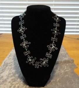 metal work necklace