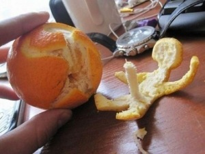 phallic orange peel