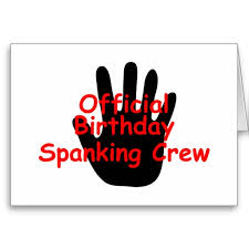 birthday spanking crew sign
